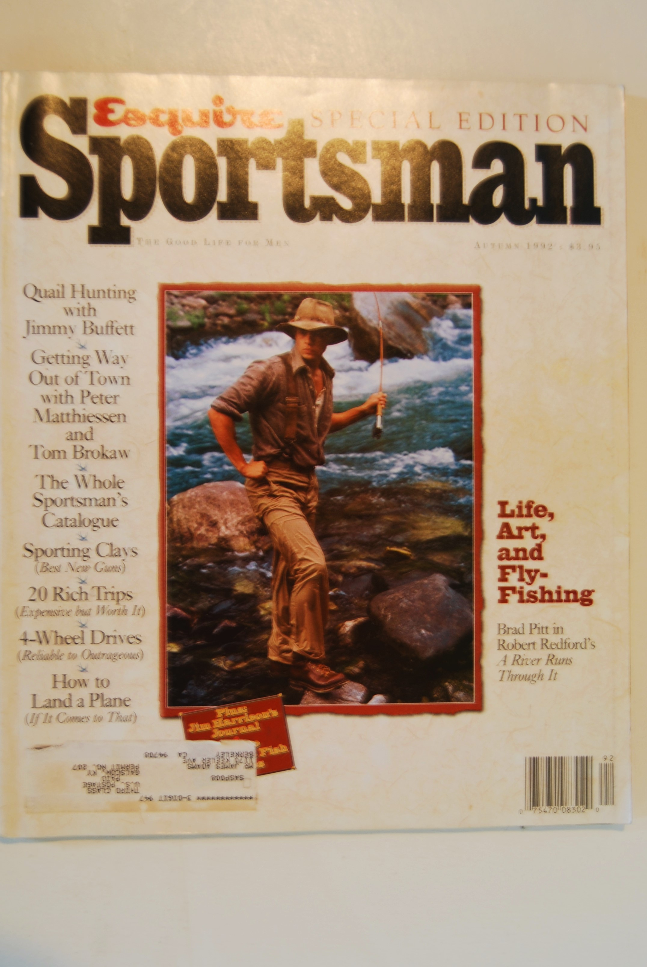 Image for ESQUIRE SPORTSMAN. The Good Life for Men. Special Edition. 4to illus. NY: Hearst Corp. Autumn 1992. Vol. 1 No. 1. 162 p. 1992