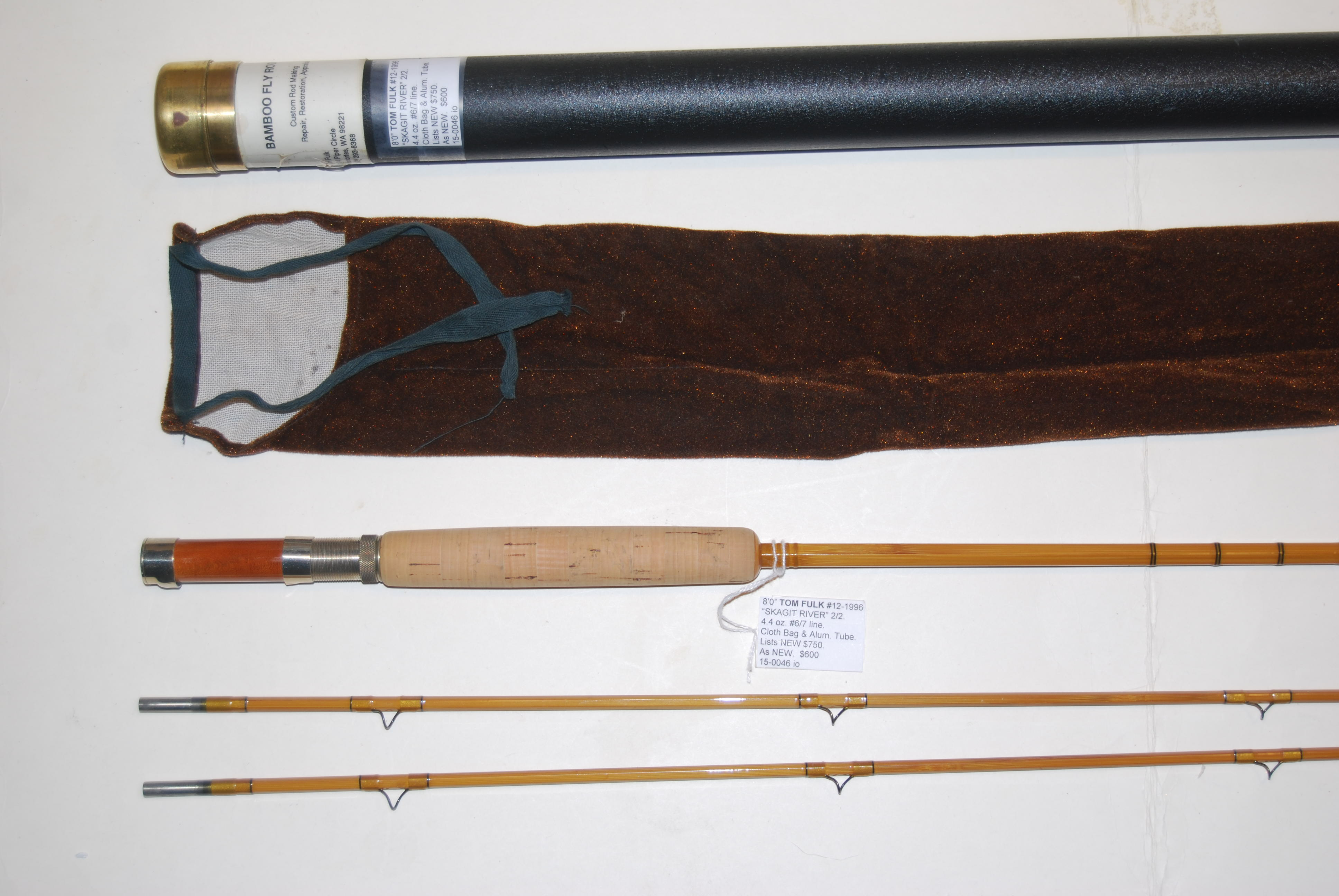"Image for 8'0"" TOM FULK ""SKAGIT RIVER"" 2/2. 4.4 oz. #6/7 Line. Two different tips: 5/64"" Dry Fly, & 5.5/64"" Wet."