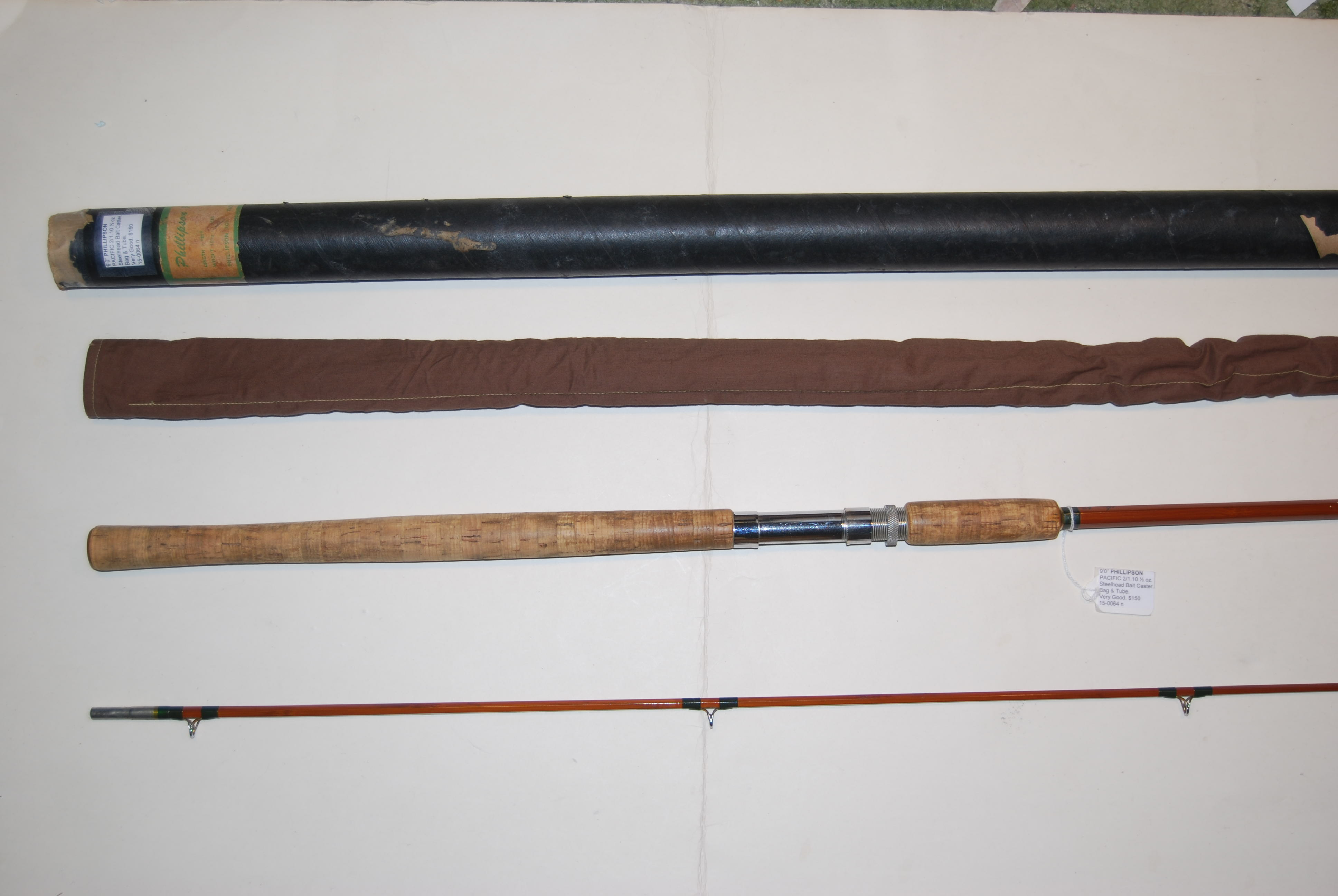 "Image for 9'0"" PHILLIPSON ""PACIFIC"" Bamboo 2/1. Two-Handed Steelhead & Salmon Casting Rod."