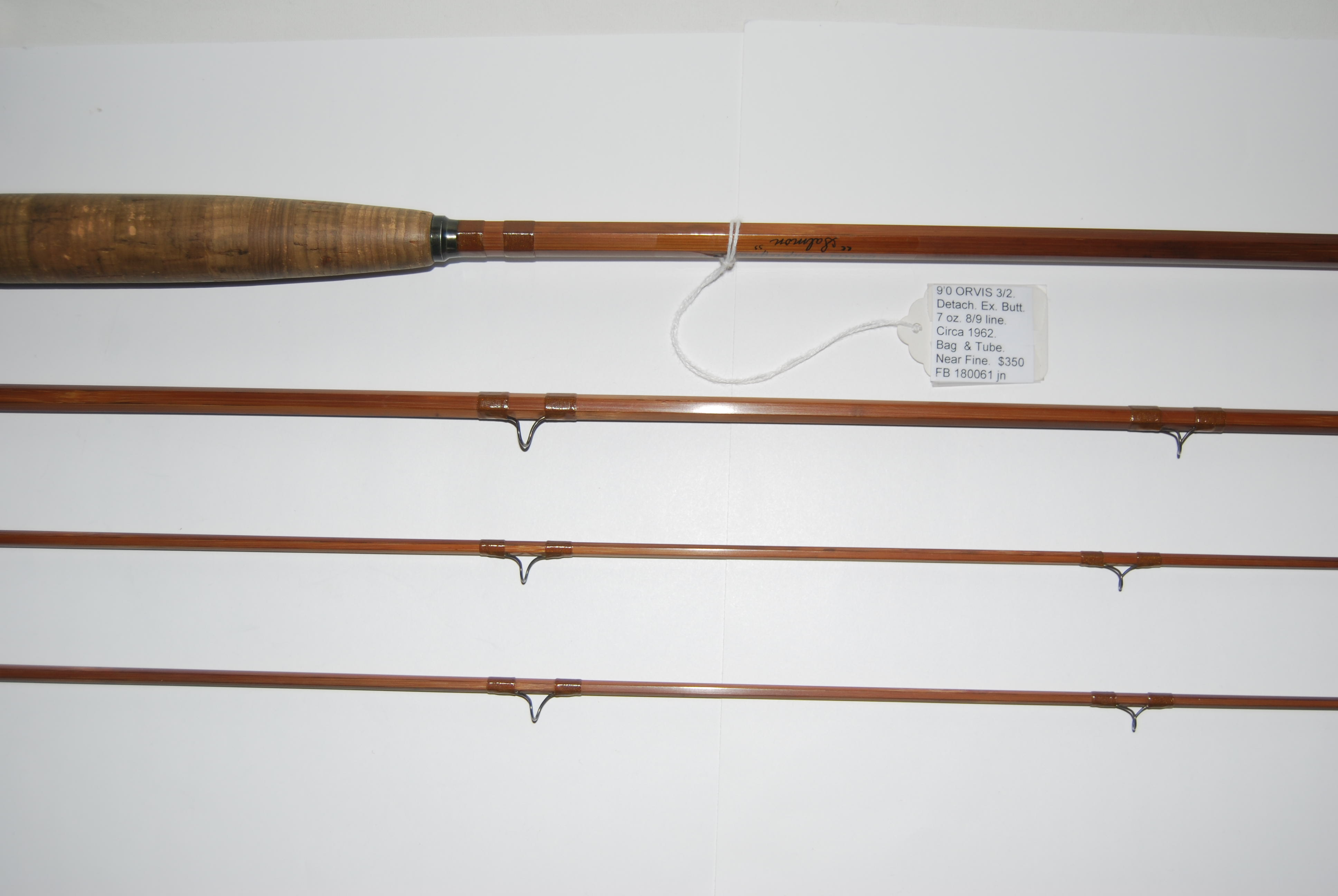"Image for  9'0"" ORVIS SALMON 3/2. With 5 in. Detachable Extension Butt. 7 oz. #8/9 line. Serial No. 32274] [1962]]"
