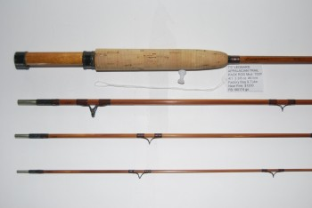 "Image for 7'0"" LEONARD Mod. 700P APPALACIAN TRAIL PACK ROD 4/1. 3 3/8 oz. #4 line.  Factory Bag & Brass-capped alum. Tube.[Tube measures 22 in.]"