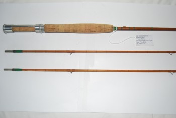 "Image for 8'0"" OGDEN SMITH ""WARRIOR: 2/2 [Both tips down ½ in as made.] 4 ¾ oz. #6 line.  Factory cloth bag & Alum. Tube."