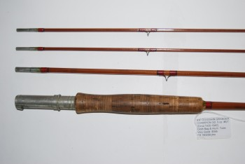 "Image for 9'0"" GOODWIN GRANGER ""CHAMPION"" 3/2. [Circa 1935-1942] 5 oz. #6/7 line.  In original wood form tip tube & cloth bag; later Aluminum rod tube."