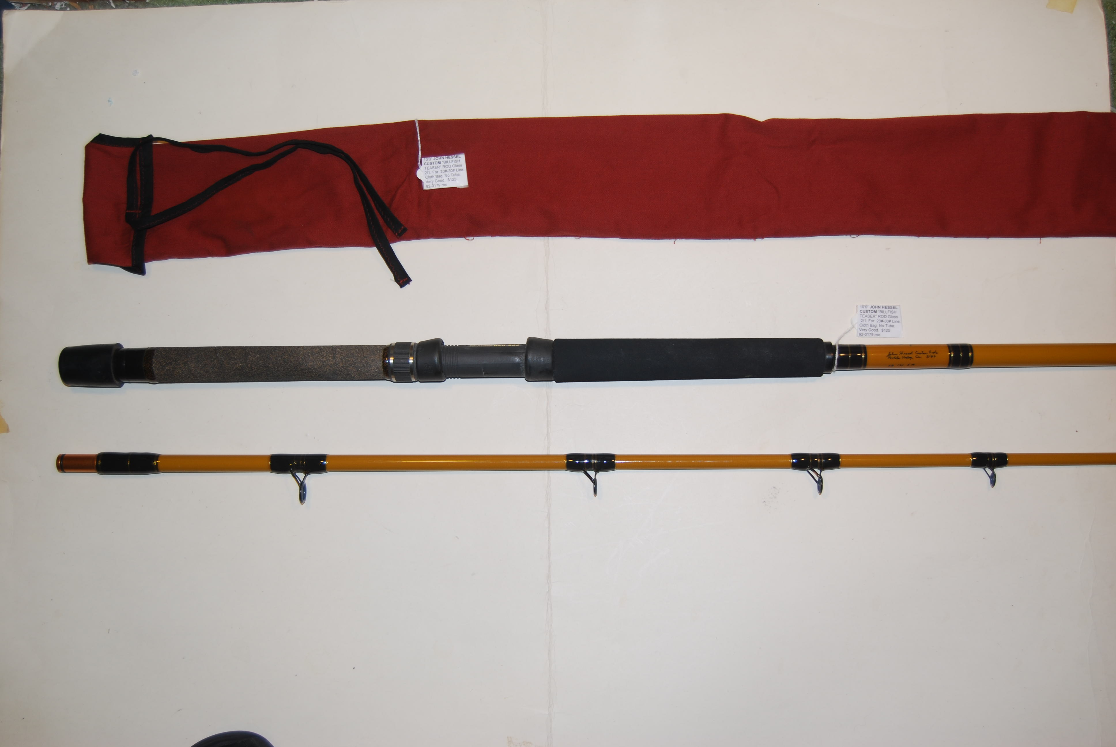 "Image for 10'0"" [FISHER] BILLFISH TEASER ROD Custom Built by John Hessel, Portola Valley CA. 2/1."