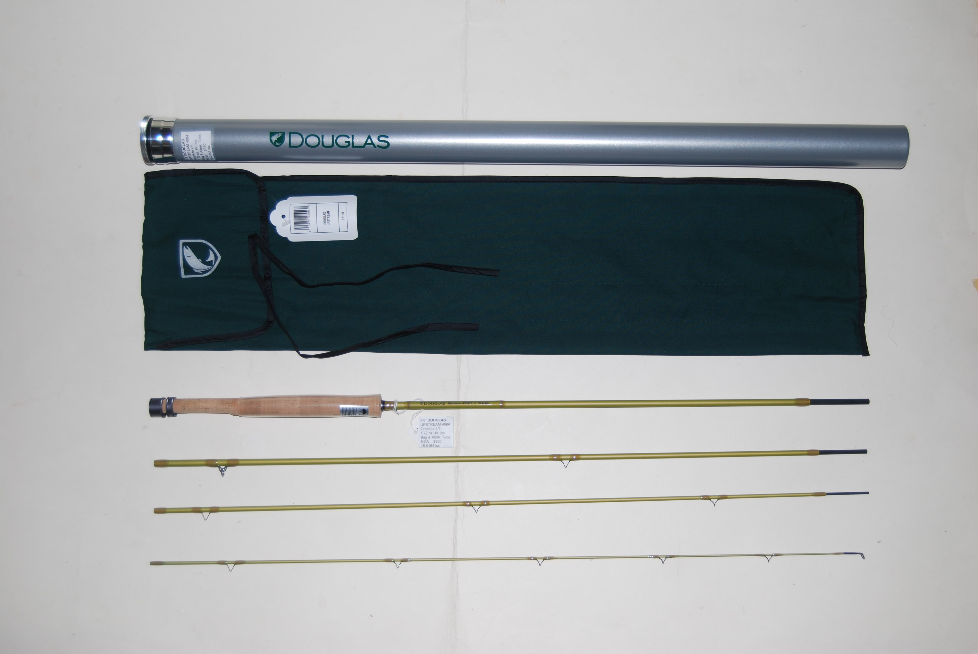 "Image for 8'8"" DOUGLAS  ""UPSTREAM 4884"" graphite 4/1.  1.72 oz. #4 Line; in cloth bag & Alum. Tube."