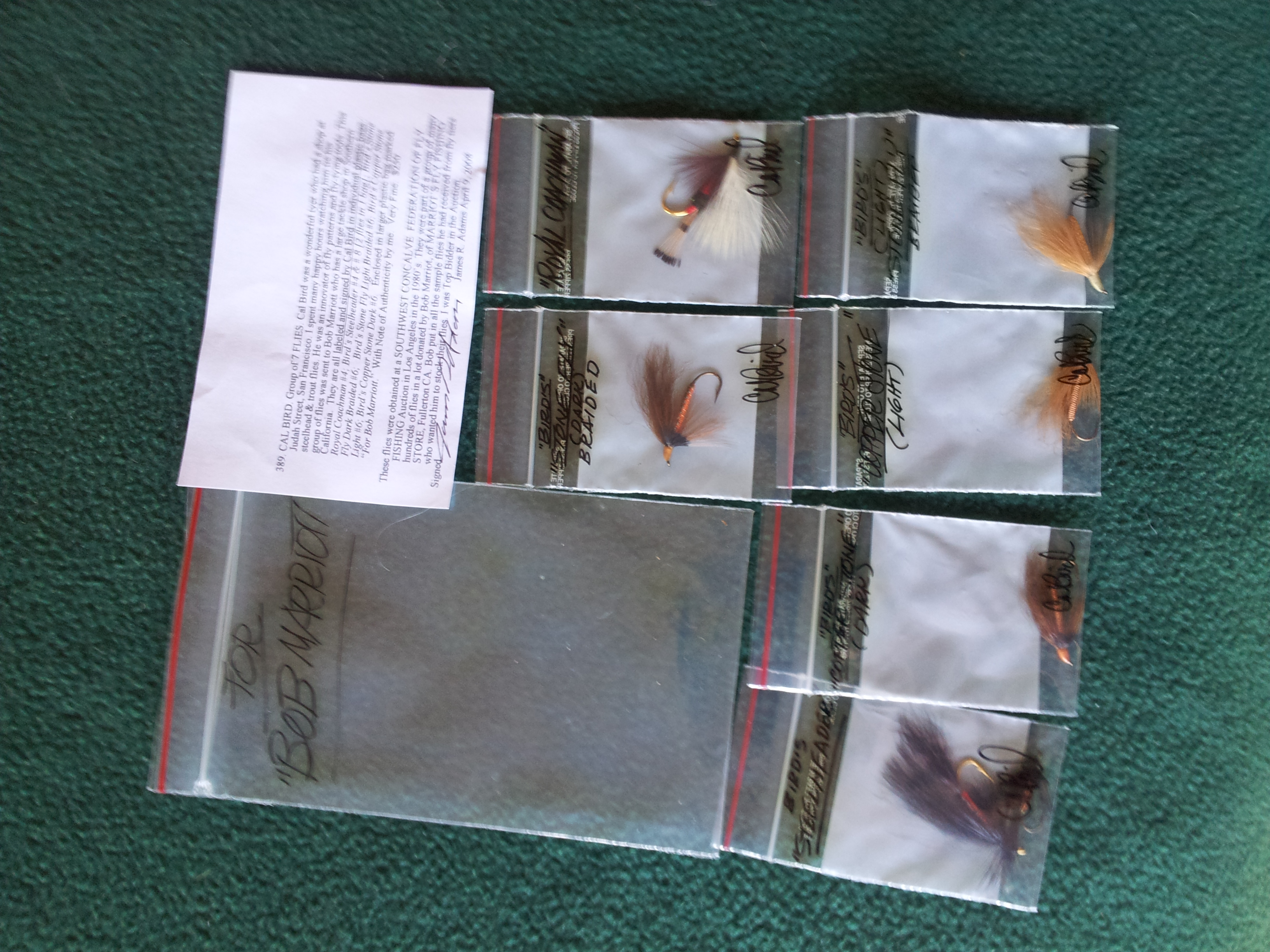 Image for CAL BIRD. Group of 7 FLIES.
