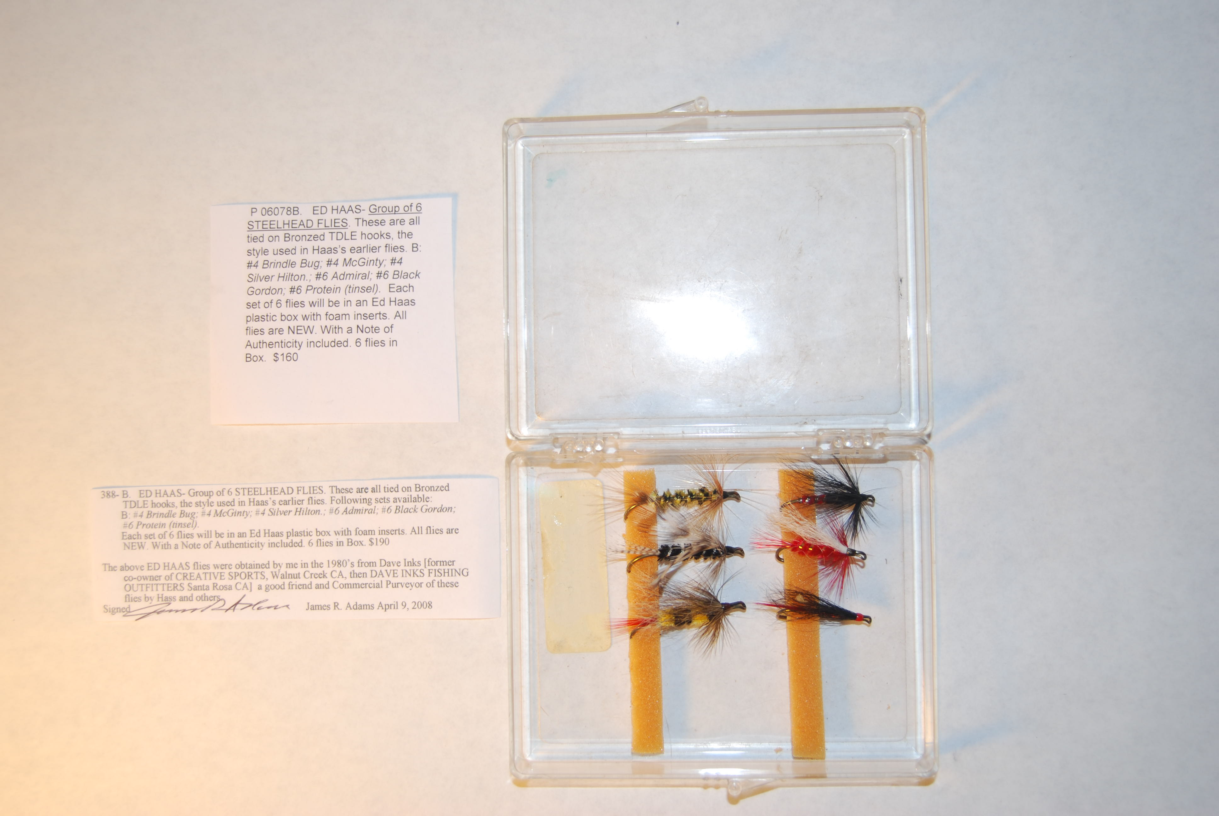 Image for ED HAAS- Group of 6 STEELHEAD FLIES.