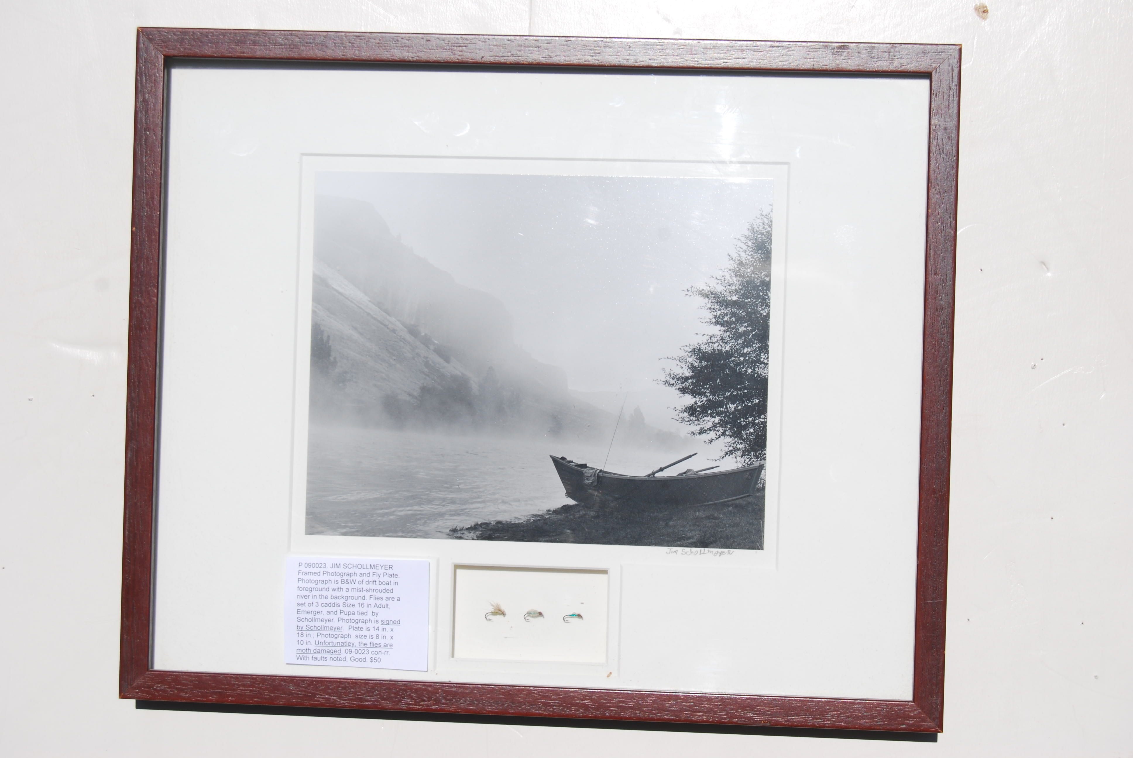 Image for JIM SCHOLLMEYER Framed Photograph and Fly Plate.