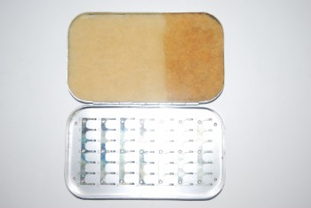 "Image for 6 in. WHEATLEY Bright Aluminum Fly Box with 49 Numbered Medium Clips; Sheepskin Pad on inside lid; 6"" x 3 1/2"" x 3/4""  Silmalloy Metal"