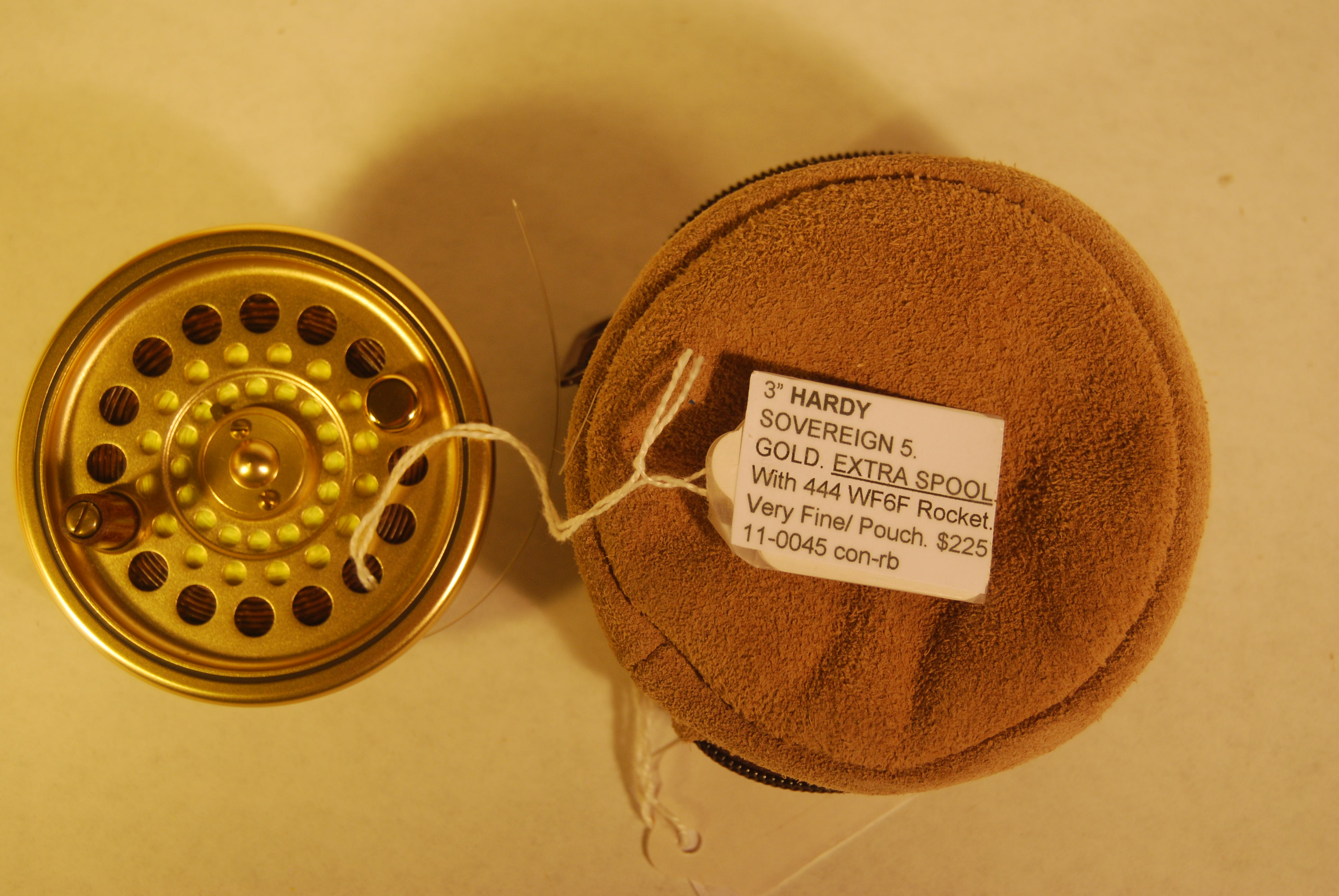 "Image for 3"" HARDY ""SOVEREIGN 5"" GOLD. EXTRA SPOOL."