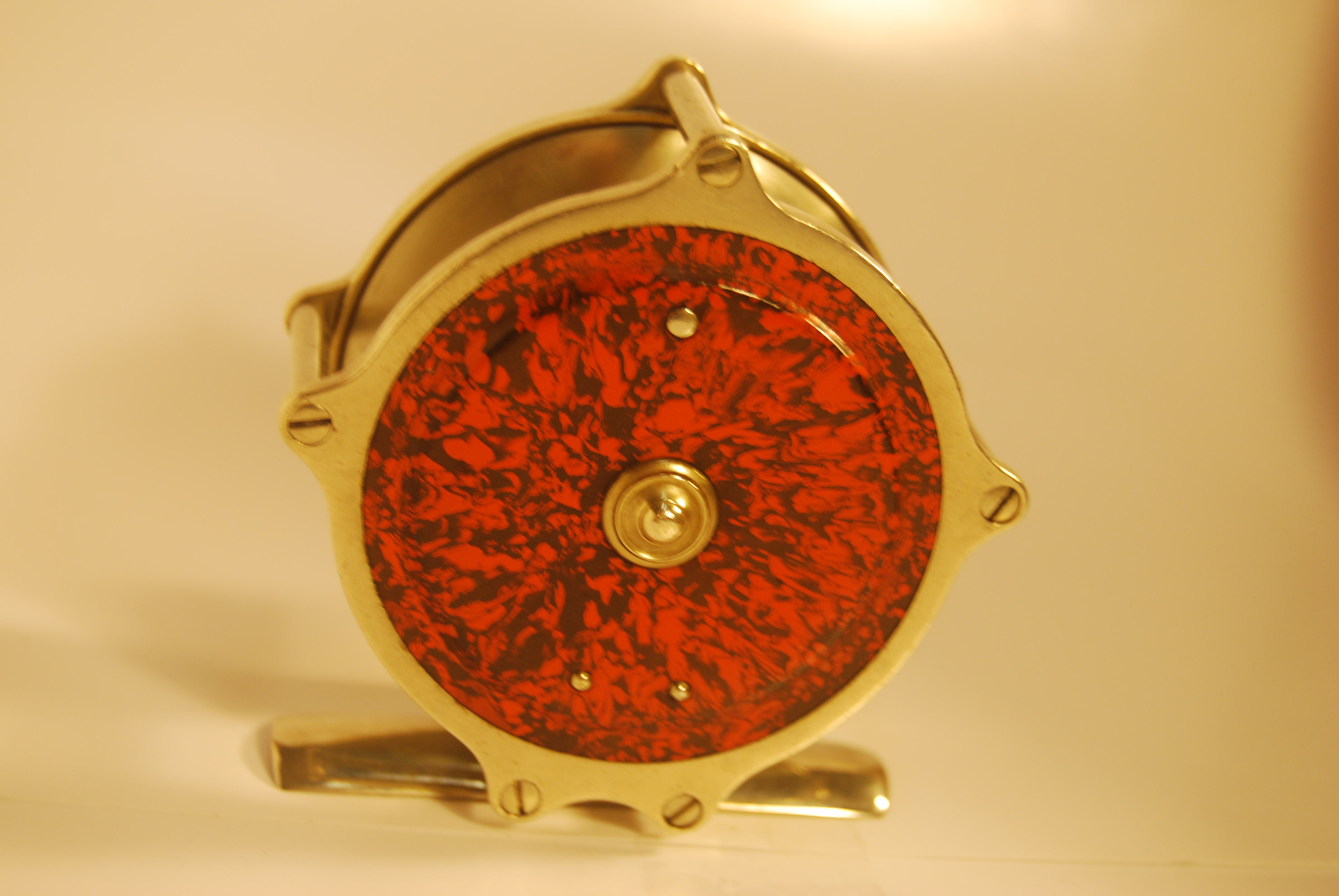 "Image for 3"" PHILBROOK & PAINE Marbleized Fly Reel. Circa 1877.   6.8 oz. Cap. DT-6 + backing. SOLD"
