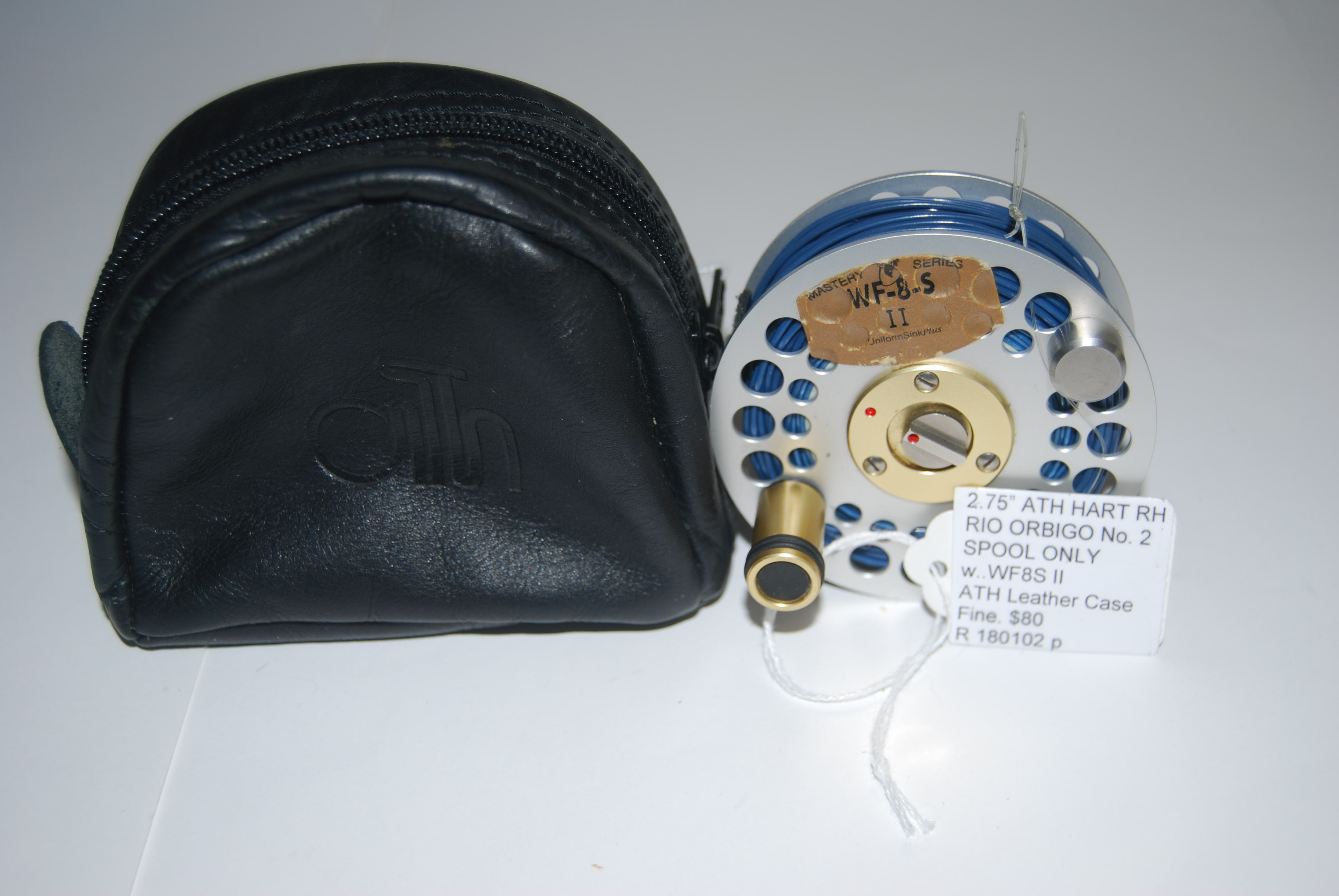 "Image for  2.75"" ARI T HART RIO ORBIGO No. 2. EXTRA SPOOL ONLY. In ATH Leather Case."